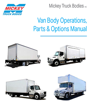 Mickey Van Body 2015 Parts & Options Manual