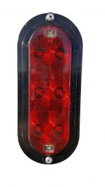 LED Red/Clear Oval Stop/Tail/Turn & Back-Up Light