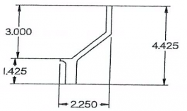 "Bumper End Plate (105"")"