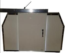 Aluminum Upper Track for Cut-A-Way Door